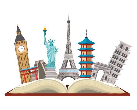 world landmarks icon Ilustrace