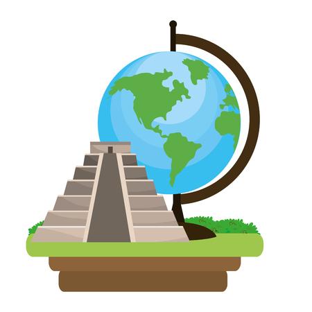 pyramid structure icon Illustration