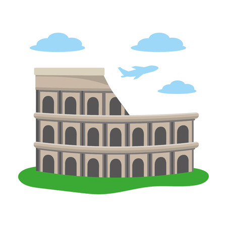colosseum structure icon Illustration