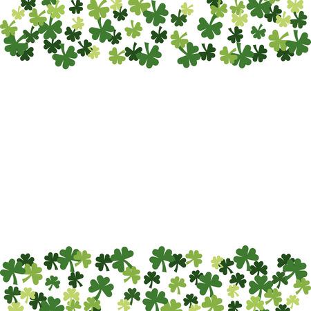 st patricks day clover pattern cartoon vector illustration graphic design