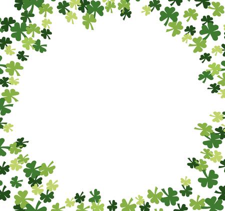 La Saint-Patrick motif trèfle cartoon vector illustration graphic design Vecteurs