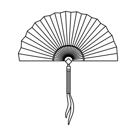 chinese hand fan cartoon vector illustration graphic design