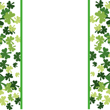 clovers frame background vector illustration graphic design