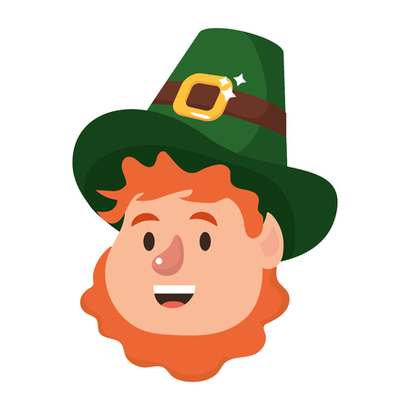 st patricks day leprechauns face cartoon vector illustration graphic design Illustration