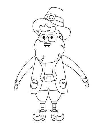 st patricks day leprechauns cartoon vector illustration graphic design