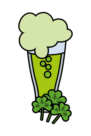 green beer with clover vector illustration graphic design Illustration