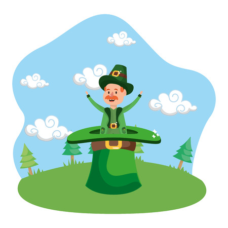 leprechaun gigantic hat Banque d'images - 116031881