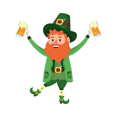 leprechaun party beer vector illustration Banque d'images - 115954585