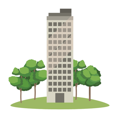 real state building cartoon vector illustration graphic design