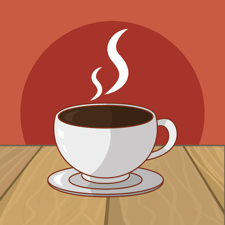 hot drink coffee cartoon vector illustration graphic design