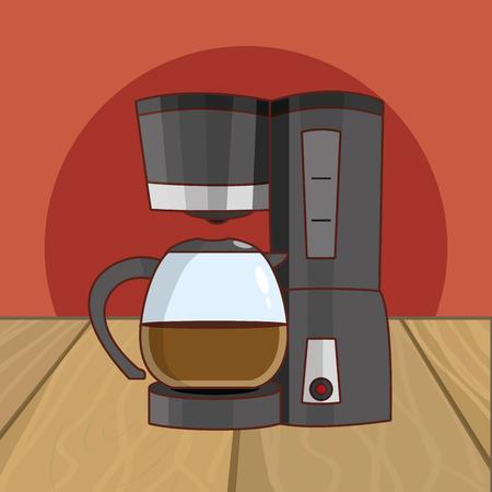 hot drink coffee cartoon vector illustration graphic design