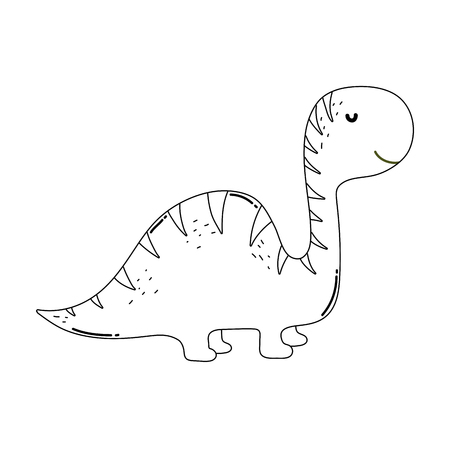 cute apatosaurus character icon vector illustration design