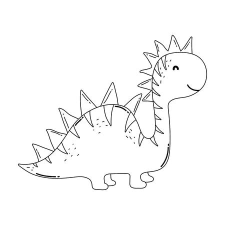 cute apatosaurus character icon vector illustration design