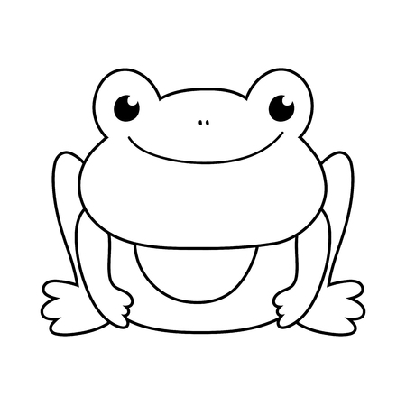 cute toad character icon vector illustration design Illustration