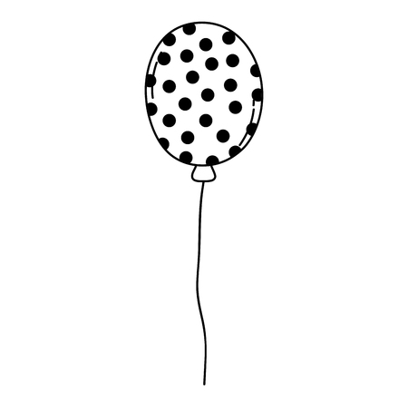 party balloon helium floating vector illustration design