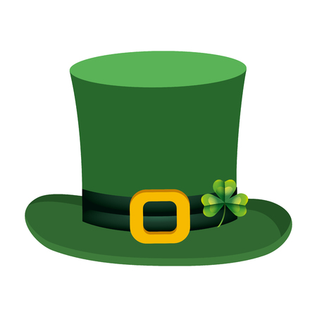 leprechaun hat clover vector illustration Illustration