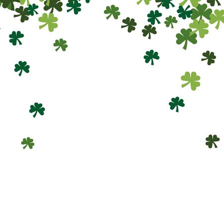 rain four leaf clover vector illustration Illustration