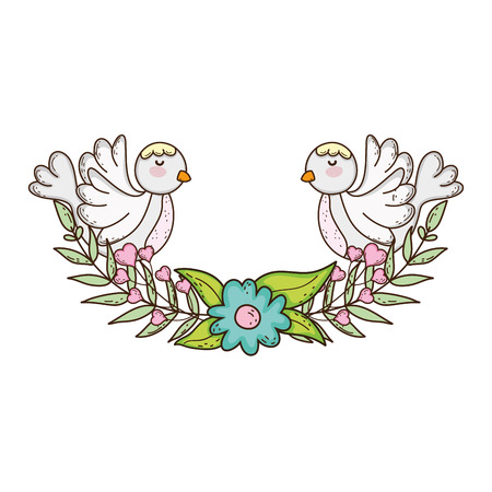 cute dove bird religious with crown
