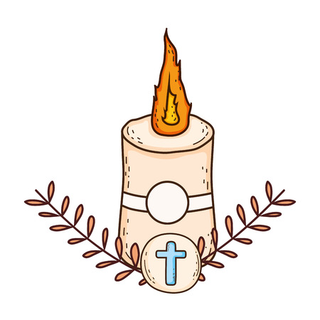 Paschal candle sacred icon