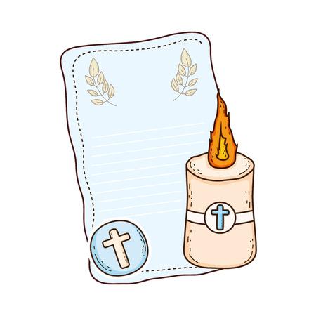 Paschal candle sacred icon Vektorové ilustrace
