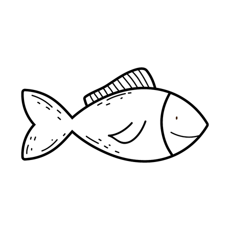 fish animal isolated icon vector illustration design