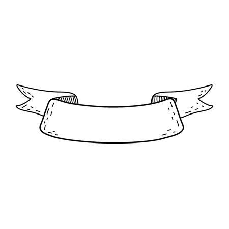 ribbon tape frame icon Stock Vector - 116332412