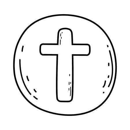holy host communion icon Иллюстрация