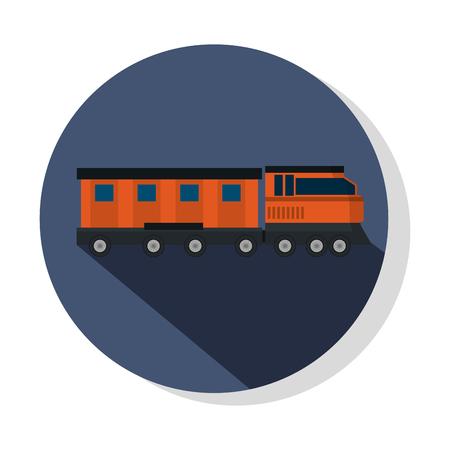 transportation concept train cartoon vector illustration graphic design Illustration