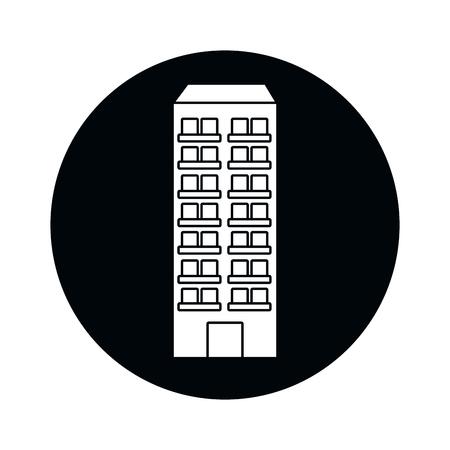urban building cartoon vector illustration graphic design