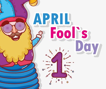 funny jester to april fools day vector illustration