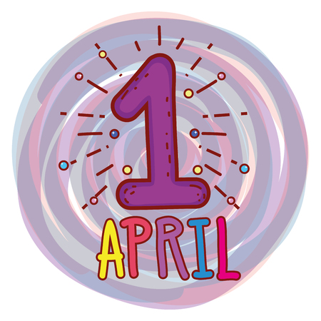 april first to fools day celebration vector illustration