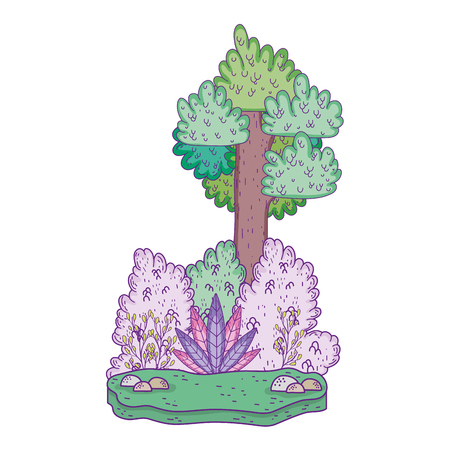 beautiful forest landscape scene vector illustration design Stok Fotoğraf - 117313905