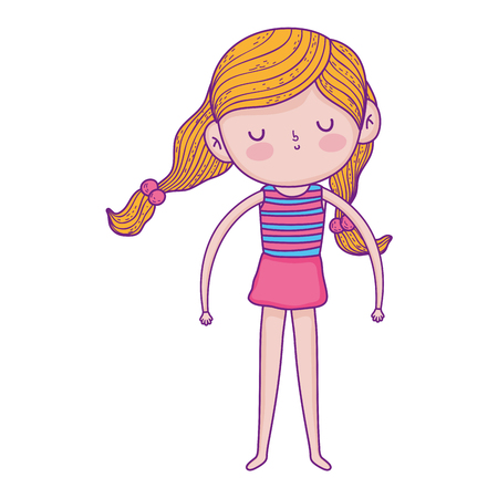 little girl with swimwear character vector illustration design Illustration