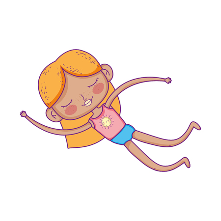 little girl with swimwear character vector illustration design Stockfoto - 125062210