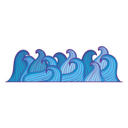 sea waves isolated icon vector illustration design Ilustração
