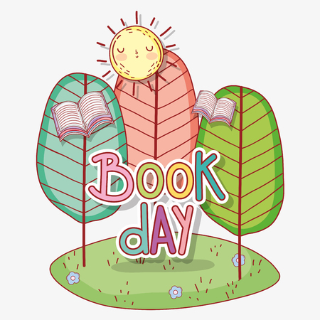 book day celebration event to literature vector illustration Banque d'images - 125069697