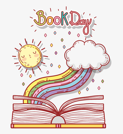 book literature day to learn and study vector illustration Banque d'images - 125069708