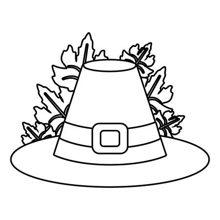 thanksgiving day hat cartoon vector illustration graphic design