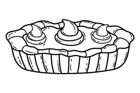 delicious meal cake cartoon vector illustration graphic design Иллюстрация