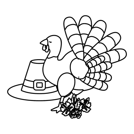 thanksgiving day elements cartoon vector illustration graphic design