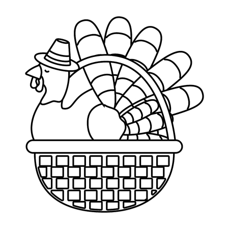 thanksgiving day turkey cartoon vector illustration graphic design Banco de Imagens - 124996874