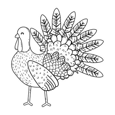 animal turkey cartoon vector illustration graphic design Stockfoto - 124996878