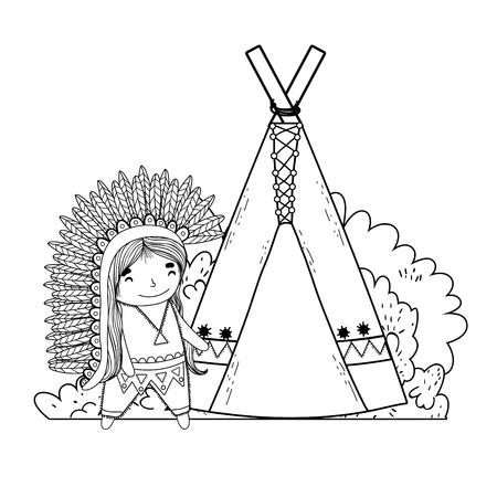 thanksgiving day scene cartoon vector illustration graphic design