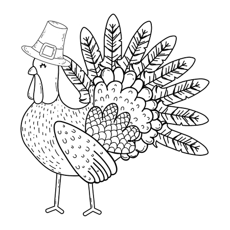 thanksgiving day turkey cartoon vector illustration graphic design Ilustracja
