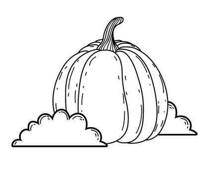 delicious meal pumpkin cartoon vector illustration graphic design Stockfoto - 124996889