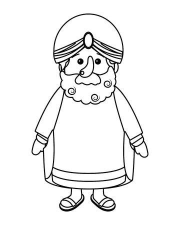 nativity wise man cartoon vector illustration graphic design