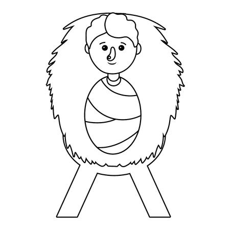 cute baby cartoon vector illustration graphic design