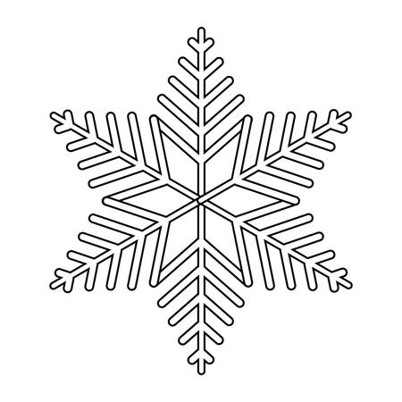 winter sneeuwvlok cartoon vector illustratie grafisch ontwerp