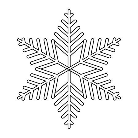 winter snowflake cartoon vector illustration graphic design 일러스트