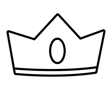 isolated crown cartoon vector illustration graphic design